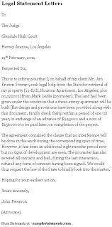legal statement letter sample statements