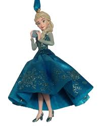 sketchbook ornament elsa frozen tulle gown