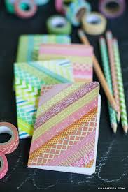 diy washi notebooks and pencils