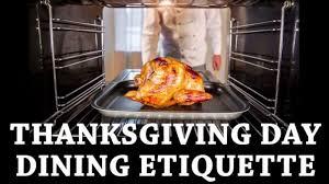 proper thanksgiving day etiquette