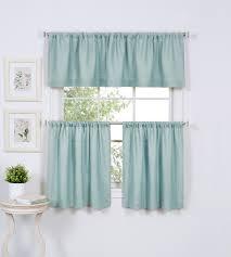 36 blue tier curtains