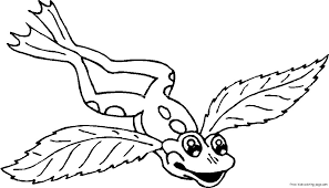 frog angel wings tattoo coloring pages free printable bebo