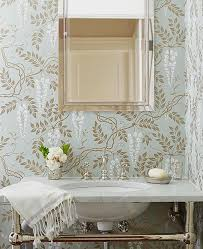 Wallpaper For Bathrooms Ideas Colors 57 Best Powder Rooms Images On Pinterest Bathroom Ideas Home