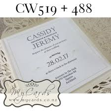 wedding invitations new zealand floral four panel lasercut cw519 wedding invitation cover