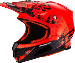 orange motocross helmet scorpion vx 15 air miramar cross helmet motorcycle motocross
