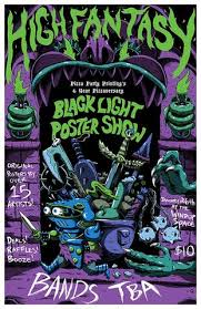 free black light posters high fantasy ppp s 6 year pizzaversary black light poster show