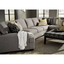 Spencer Leather Sectional Sofa Benchcraft Cresson Contemporary Sectional W Cuddler Sofa