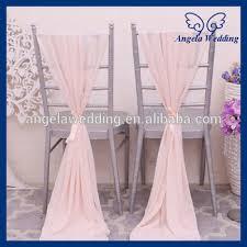 Pink Chair Sashes Sh004e Cheap Elegant Fancy Wedding Blush Pink Chiffon Chair Sash
