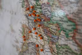 Map Tacks Our Journey Decorative Documenting Your Travels Map