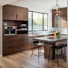 mid century modern walnut kitchen cabinets midcentury modern kitchen features walnut cabinets hgtv