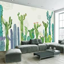 3d wall mural hand painted cactus wallpaper interior art decoration tropical plant wallpaper children bedroom nursery livingroom hotel decor free high