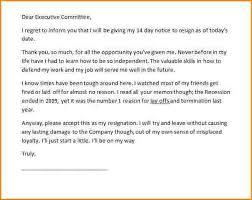 sample resignation letter short notice resignation letter example2