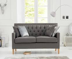 Grey Fabric Chesterfield Sofa by Casalivin Cawsands Grey Fabric Chesterfield Armchair And Sofas