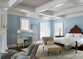 Light Blue Bedroom by Stylish Light Ceiling Cool Blue Walls And Dark Flooring Offer