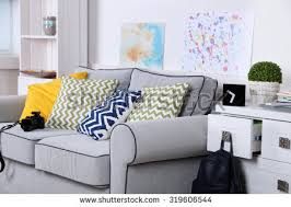 Gray Sofa In Living Room Beautiful Modern Living Room Grey Sofa Stock Photo 308489978