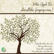 pingpong white apple tree snowflakes by pingpong free