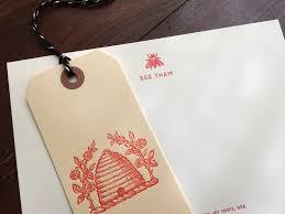 letterpress stationery bees bees bees sesame letterpress design
