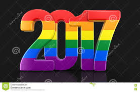 pride color new year 2017 stock illustration image 78466835