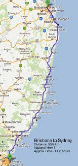 sydney australia map road maps sydney to brisbane road map