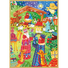 caspari cards nativity advent advent calendar greeting card 1 card 1