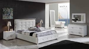 Bedrooms  Contemporary Bedroom Furniture Modern Leather Bedroom - White leather contemporary bedroom furniture