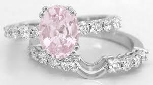 light diamond rings images Natural light pink sapphire engagement ring in 14k white gold gr 5911 jpg
