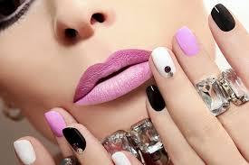 nail art color mixed hmc beauty ladies salon
