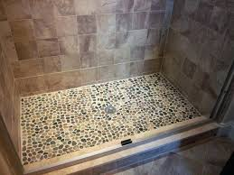 river rock bathroom ideas shower floor ideas pebble reviews solid walls river rock