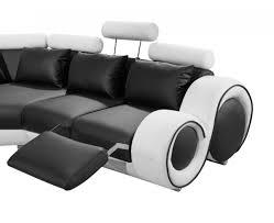 Modern Black Sofas Divani Casa 4087 Modern Black And White Bonded Leather Sectional