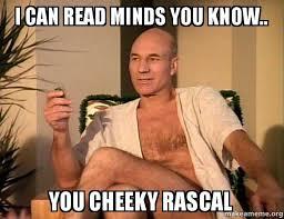 Cheeky Meme - i can read minds you know you cheeky rascal make a meme