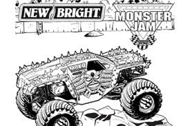 monster truck sting monster jam coloring pages monster truck for