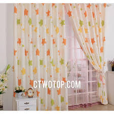 beige and orange star stylish best discount nursery kids curtains