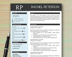 One Page Resume Example by Professional Modern Resume Template For Microsoft Word