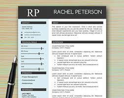 Modern Professional Resume Templates Job Resume Template Etsy