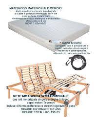 peso materasso rete elettrica a doghe in legno matrimoniale con materasso in memory