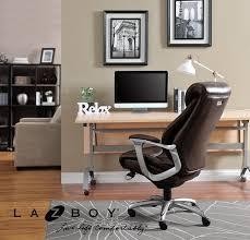Executive Office Furniture Amazon Com La Z Boy Cantania Executive Bonded Leather Office
