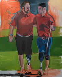george w bush paints injured veterans for book of artwork daily