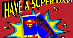 superman candy bar wrapper free printable everyday parties