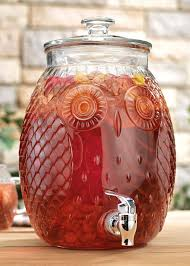 owl canisters for the kitchen home essentials owl glass beverage dispenser 2 3 gal