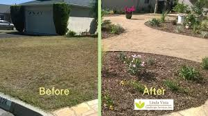 before and after drought tolerant landscape by linda vista