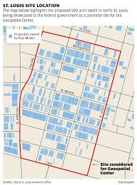 Map St Louis St Louis To Begin Using Eminent Domain In Effort To Lure National