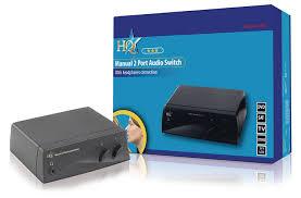hq 2 audio sources into 1 output manual 2 port audio amazon co uk