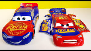 change and race lightning mcqueen disney cars 3 toys youtube