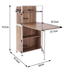 B Otisch Mit Regal Homcom 2 In 1 Schreibtisch Arbeitstisch Bürotisch Computertisch