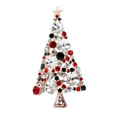amazom2016 new pattern european christmas tree brooch christmas