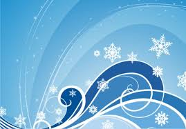 winter themed background vector free download