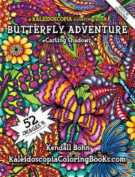 butteryfly adventure a kaleidoscopia coloring book casting shadows