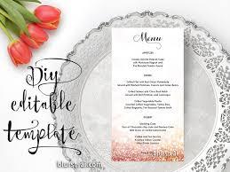 wedding menu template gold glitter wedding menu editable template in gold