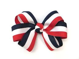 blue bows pink bowtique pinkbowtique patriotic hair bows