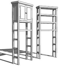 bathroom etagere cabinet